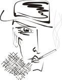 курить человека сигареты Стоковые Фото