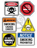 курить 3 знаков опасности Стоковое Изображение RF
