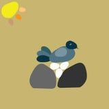 Курица на яичках Стоковая Фотография RF