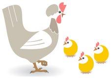 курица цыплят иллюстрация штока
