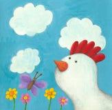 Курица Fuuny Стоковое фото RF
