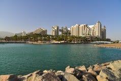Курортные отели Eilat и прогулка, Израиль Стоковые Изображения