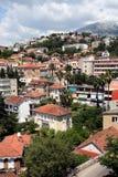 курортный город novi montenegro herceg среднеземноморской Стоковая Фотография