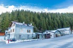 Курортный город плохое Gastein в горах зимы снежных, Австрия лыжи, земля Зальцбург стоковая фотография rf