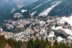 Курортный город плохое Gastein в горах зимы снежных, Австрия лыжи, земля Зальцбург Стоковая Фотография