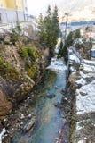 Курортный город плохое Gastein в горах зимы снежных, Австрия лыжи, земля Зальцбург Стоковое Изображение