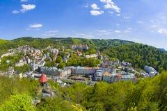 Курортный город Karlovy меняет - чехию стоковые изображения
