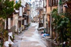 Курортный город Shibu Onsen горячего источника Стоковые Изображения
