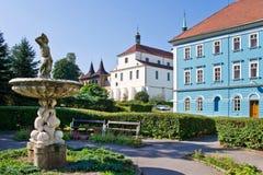 Курортный город Teplice, Богемия, чехия, Европа Стоковое Изображение RF
