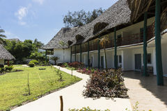 Курортный отель на острове Занзибара стоковое изображение
