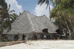 Курортный отель на острове Занзибара стоковое изображение rf