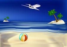 курорты островов тропические иллюстрация вектора