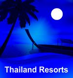 Курорты Таиланда значат тайскую иллюстрацию гостиниц 3d иллюстрация штока