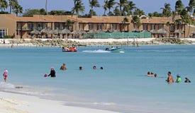 Курорт Аруба на карибском море Стоковая Фотография RF