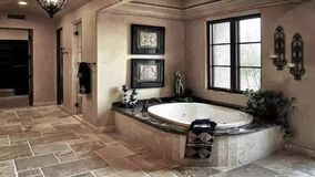 Курорт ванной комнаты особняка курорта сток-видео