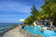Курорт в Roatan, Гондурасе стоковое фото rf