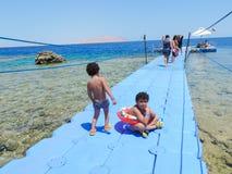 Курорт в Sharm El Sheikh Стоковое фото RF