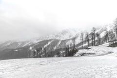 Курорт горного пика Изумительный ландшафт природы с горой ro Стоковые Фотографии RF