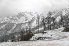 Курорт горного пика Изумительный ландшафт природы с горой ro Стоковые Изображения