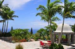 Курорт горных склонов в Невисе, карибском острове Стоковое Изображение