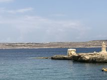 Курорт залива Ramla, Mehellia Мальта стоковые фотографии rf