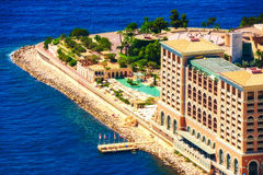 Курорт залива Монте-Карло в Монако Стоковые Фотографии RF
