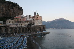 Курорт Италии Амальфи Стоковая Фотография