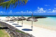 курорт Маврикия острова пляжа тропический Стоковые Изображения RF