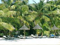 курорт Маврикия пляжа Стоковые Изображения