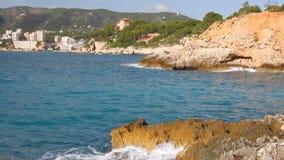 Курорт на Балеарских островах Майор Cala, Palma de Majorca, Испания сток-видео