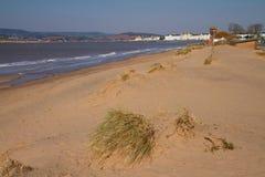 Пляж Девон Англия Exmouth стоковые изображения rf
