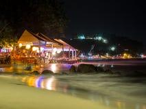 Курорт на ноче Стоковая Фотография