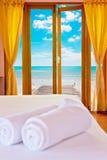 Курорт на пляже красоты Стоковая Фотография