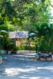 Курорт на скалах ямайского города туризма западного побережья, Уэст Энд Negril Ямайка Xtabi стоковая фотография