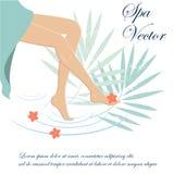 Курорт ног женщины Стоковые Изображения RF