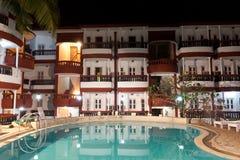 курорт ночи гостиницы роскошный Стоковые Фотографии RF
