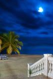 курорт ночи пляжа Стоковые Фото