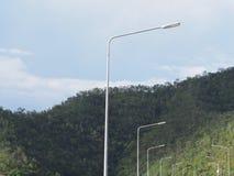курорт ночи светильника здоровья belokurikha altay снял улицу Сибиря Стоковое Фото
