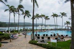 Курорт Оаху Гаваи залива черепахи стоковые изображения rf
