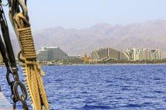Курорт побережья Eilat, Израиля стоковые изображения rf