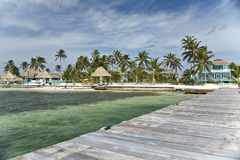 курорт рифа maya Косты caye belize янтаря Стоковые Фото