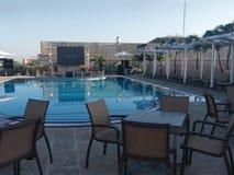 курорт, свойство, бассейн, отдых, недвижимость, гостиница, квартира стоковое изображение rf