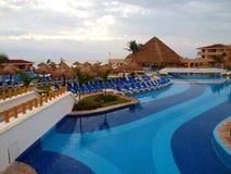 курорт cancun пляжа Стоковые Изображения