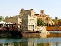 курорт madinat jumeirah стоковое изображение