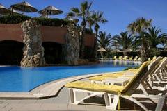 курорт poolside ландшафта Стоковые Изображения