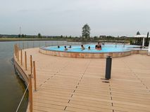 Курорт Therme - открытый бассейн Стоковая Фотография RF