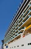 Курсировать открытая палуба роскошного туристического судна стоковые изображения rf