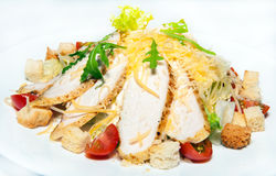 Курсы закусок, салатов, первого и второго, суп Стоковое Фото