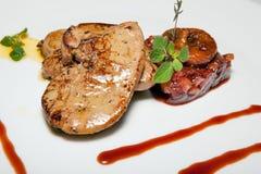 Курсы закусок, салатов, первого и второго, суп стоковая фотография