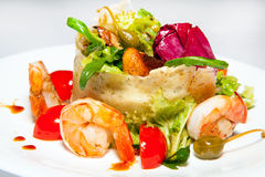 Курсы закусок, салатов, первого и второго, суп Стоковые Изображения